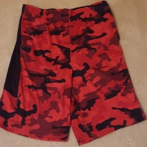 Red Urban Camo Shorts